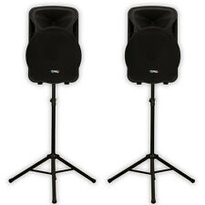 "Technical Pro PVOLT15 PA DJ 15"" Active 3000W Speaker Pair and Stands PVOLT15-PK2"