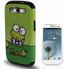 Keroppi Pattern 2 in 1 (Plastic + Silicone) Case for Samsung Galaxy SIII / i9300