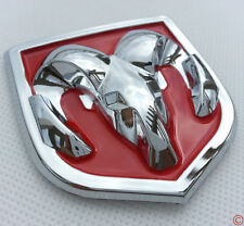 New Red Hood Head Grill Trunk Chrome Emblem Badge for Dodge Ram Big 61*66mm
