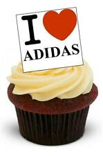 NOVELTY I LOVE ADIDAS STAND UP Edible Cake Toppers Birthday Trainers Boy Girl