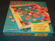 SPIN TO WIN --VINTAGE CHILDRENS FUN SPINNING GAME BY SPEARS 1977