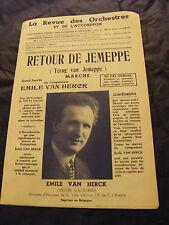 Partition Retour de Jemeppe Emile Van Herck Terug van Jemeppe