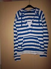 Womens atmosphere Casual Cotton Blue/white striped hooded top size 8