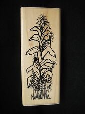Thanksgiving Fall Harvest Rubber Stamp by d.o.t.s. Indian Corn