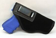 SUEDE LEATHER INSIDE THE PANTS HOLSTER FITS GLOCK MED 19 23 29 30 32 38 - BLACK