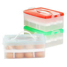 Hot Double Layer Refrigerator Food 24 Egg Airtight Storage container plastic Box