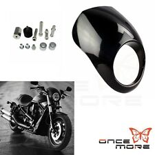 Motorcyle Cowl Fork Mount Headlight Fairing Fit Dyna Sportster FX XL Black Gift