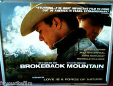 Cinema Poster: BROKEBACK MOUNTAIN 2006 (Main Quad) Heath Ledger Jake Gyllenhaal