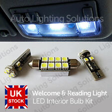 Skoda Fabia Xenon White Interior LED Welcome & Reading Lights Upgrade Error Free