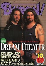 Burrn! Heavy Metal Magazine October 1997 Japan Dream Theater Bon Jovi Saxon