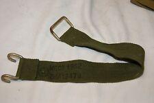 """BRITISH ARMY WEBBING 1958 PATT GREEN HEAVY DUTY STRAPS 18"""" x 1.5 HOOK ANCHOR END"""