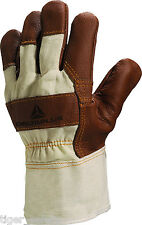 x2 Pairs Delta Plus Venitex DR605 Brown Furniture Canadian Rigger Gloves Docker