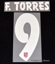 Atletico Madrid F.torres 9 Football Shirt Name/Number Set Home/Away 2015/16