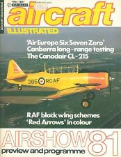 AIRCRAFT ILLUSTRATED MAY 81 CANBERRA LONG-RANGE TESTING_CANADAIR CL-215_RED ARRO