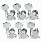 Chrome Inline Guitar Tuners Tuning Pegs Set of 6 Tuning Keys