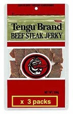 Tengu brand beef jerky regular 100g x 3packs JAPAN Import