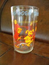 Great 1971 Archie Comics Glass Hot Dog Goes to School Sabrina on bottom of glass