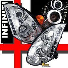 Dual CCFL Halo LED Projector Headlights For 03 04 05 INFINITI G35 2DR COUPE