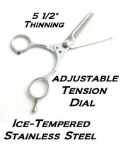 "Hair STYLIST Barber ICE TEMPERED Steel PRO 5.5""BLENDING THINNING Scissors Shears"