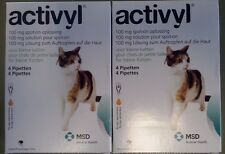 ACTIVYL 100 mg Spot On Flea Treatment Solution Small Cats under 8lbs 8 Pipettes