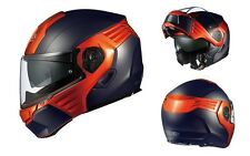 NEW OGK KABUTO KAZAMI FLAT BLACK/ ORANGE XL System Helmet Japanese Model