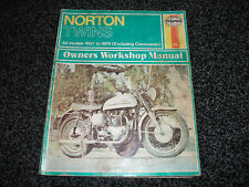 NORTON  TWINS HAYNES WORK SHOP MANUAL 1957 TO 1970 EXCLUDING COMMANDO
