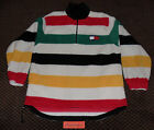 Vtg 90s Tommy Hilfiger Fleece Colorblock Jacket Stadium Polo HIP HOP 1992 Sport