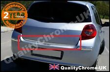 renault CLIO 3 HB chrome rear tailgate under trunk trim cover S.STEEL 2006-2012