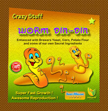 Crazy Stuff Worm Din-Din 25 lbs. Awesome Worm Growth Food For All Compost Worms