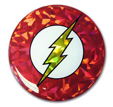 The Flash Symbol Reflective Domed Auto Decal [NEW] Emblem Car DC Comics