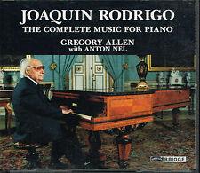 Coffret CD album: Joaquin Rodrigo: complete music for piano. bridge 2 CDs. E