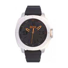 Hugo Boss Orange men's 1513105 Caja De Acero Inoxidable Reloj Correa De Caucho