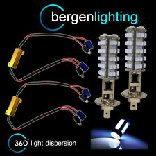 2X H1 WHITE 60 LED FRONT MAIN HIGH BEAM LIGHT BULBS HIGH POWER XENON MB500102