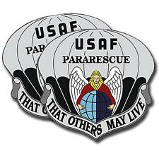 USAF Pararescue Control Sticker  -  Military Dye Cut Decal - 2 Pack MR 026