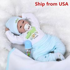 Reborn Toddler Dolls 22'' Handmade Lifelike Baby Solid Silicone Vinyl Boy Doll