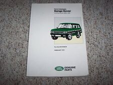 1986-1992 Land Rover Range Rover Parts Catalog Manual 2.4L Diesel 87 88 89 90 91