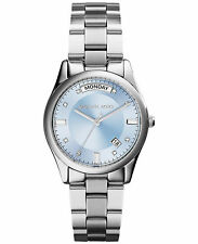 **NEW* LADIES MICHAEL KORS COLETTE BLUE CRYSTAL DATE WATCH MK6068 -RRP £229