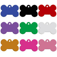 20/60/80/100pcs Bone Shape Double Sides Dog Cat ID Tags Custom Engraved Dog Tag