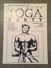 Trocadero Transfer 1981 Full Moon Toga Gay Party Poster San Francisco