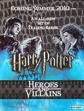 HARRY POTTER HEROES AND VILLAINS 2010 ARTBOX PROMO PROMOTIONAL SELL SHEET MO