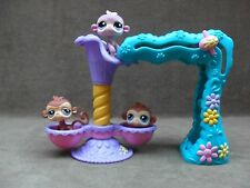 Littlest Pet Shop Twirl Around Treehouse JUNGLE GYM  MONKEYS PLAY SET 2005 #2