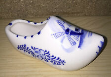 BLUE DELFT WARE AMSTERDAM DUTCH CLOG TRINKET ASHTRAY 11cm