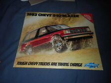 1983 Chevy Chevrolet S10 Blazer Color Original Brochure Prospekt