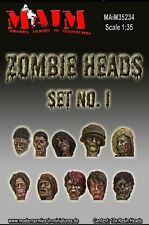 Zombie Heads #1 (10pcs) / 1:35 scale resin model kit