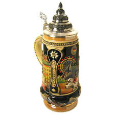 "Collectable German Lidded Beer Stein. Hand-painted ""Austria City"""