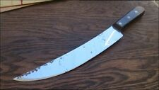 Unused/Vintage Dexter XL Curved Carbon Steel Scimitar Cimeter Butcher Knife