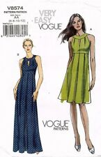 VOGUE  Misses' Dress Pattern V8574 Size 6-12 UNCUT
