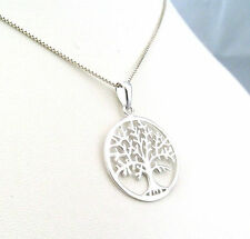 Funky 925 Sterling Silver Tree of Life Pendant with No Chain