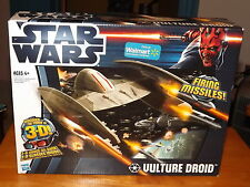 STAR WARS VULTURE DROID VEHICLE, FIRING MISSILES, NIB, 3-D GLASSES INCLUDED 2012