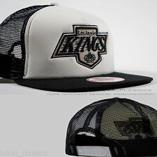 NEW Era Black & White LA Kings Snapback CAMIONISTA Cappello Mash Berretto Da Baseball Regolabile